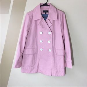 J. Crew Peacoat heavyweight cotton twill pink 8
